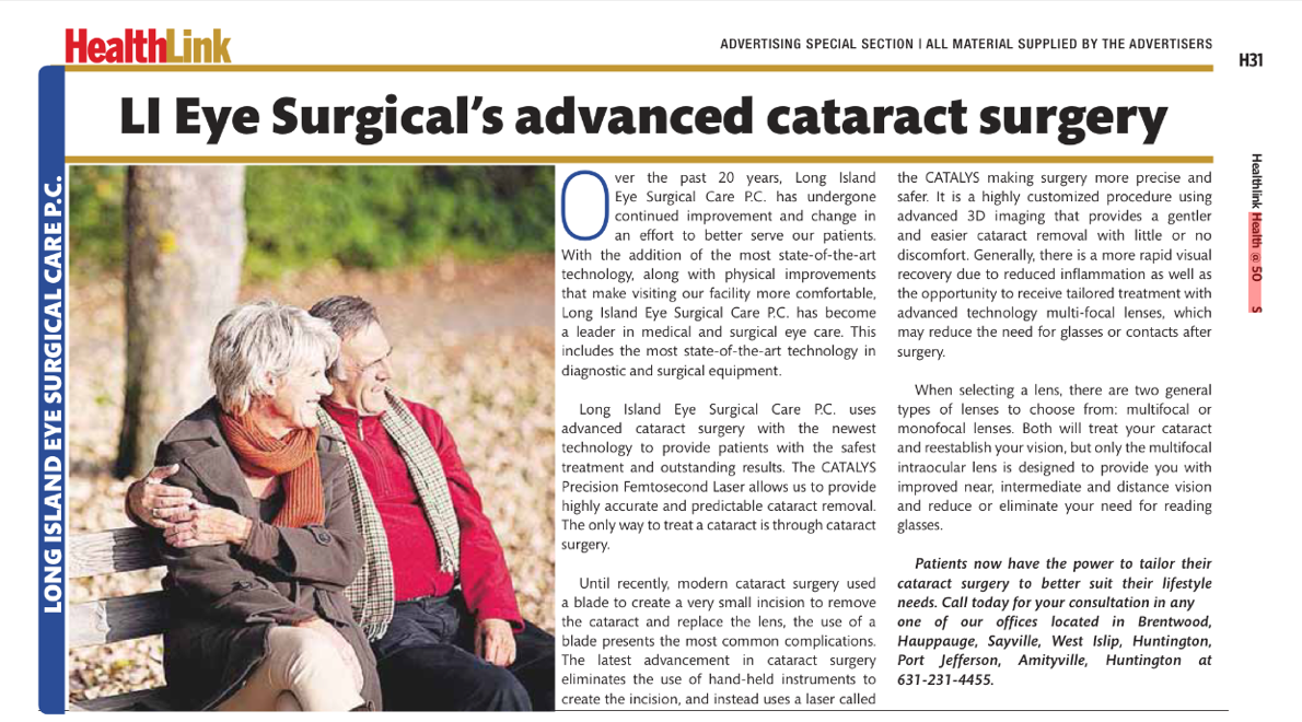 Introducing Laser Cataract Surgery at Long Island Eye ...